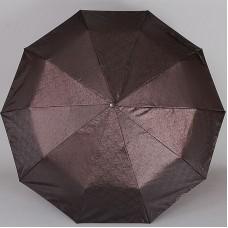 Коричневый жаккардовый зонт Sponsa 8235-9801 Бута узоры