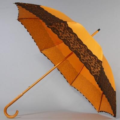 Зонт-трость женская Stilla 440-3WOOD Апельсин рюшка