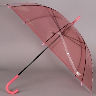 Зонт трость прозрачный TORM 1172 Красный