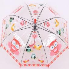 Детский прозрачный зонтик со свисточком Torm 14803-1901 Красный