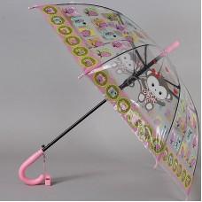Детский зонт-трость прозрачный TORM 14807-08 Обезьянки