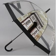 Женский зонт прозрачный трость TORM 14895-05 Триумфальная арка Париж