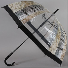 Зонт-трость женский прозрачный TORM 14895-06 Пизанская башня