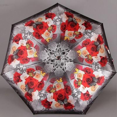 Женский зонтик Три Слона 090-9801 Розы