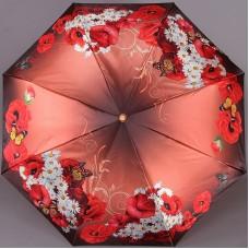 Зонт Три слона 125 H/EL Бабочка на букете цветов маки с ромашками