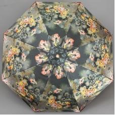 Блестящий женский зонт с узорами Жостово Три Слона 139