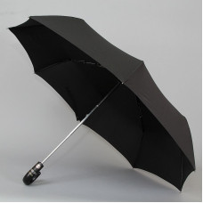 Мужской зонт Три слона с ручкой крюк кожа