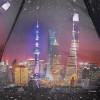 Зонт женский Три Слона 884-9802 Вечерний Шанхай