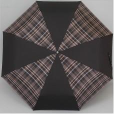 Мужской зонт Три слона с ручкой из кожи