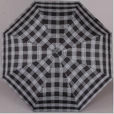 Зонт мужская клетка (серая синия полоска) Три Слона 907