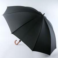 Зонт трость черный с большим куполом (диаметр 131 см, 10 спиц) TRUST 19950