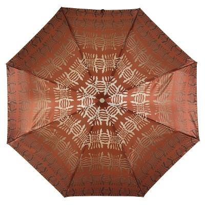 Зонтик Trust женский FASML-23LUX Узоры на Коричневом