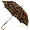 Зонт TRUST LAMP-23lux трость женская Клетка на сатине