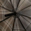 Зонт женский трость TRUST Lamp-23X Серая мелкая клетка