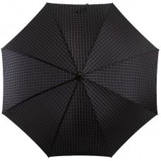 Зонт трость мужская TRUST LAMP-27X Черный, клетка