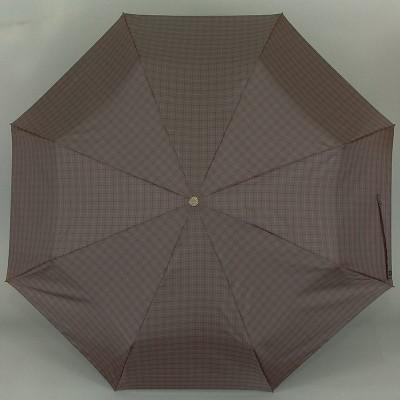 Мужской зонт с деревянной ручкой крюк Trust MFASMI-23X-02 Мелкая серая клетка