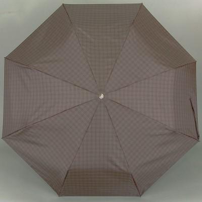 Зонт в мелкую серую клетку мужской облегченный TRUST MFASML-23X