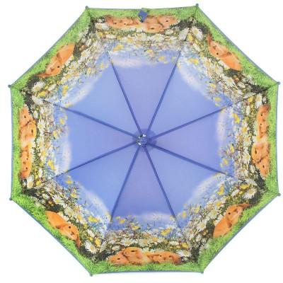 Зонтик детский трость Zest 221571-8109 Кролики на лужайке