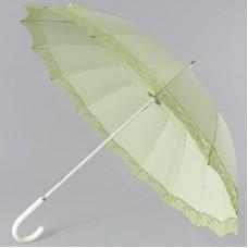 Зонтик трость летний Zest 21572 Фисташковый