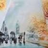 Зонт женский трость ZEST 216255-86 Лондонская прогулка
