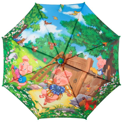 Зонт трость детский Zest 21665 Три поросенка