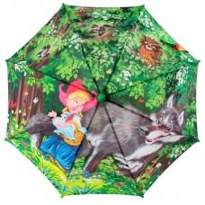 Зонтик детский трость Zest 21665-06 Красная Шапочка и Серый Волк