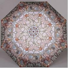 Складной женский легкий зонтик с двойными спицами ZEST 23715-27 Витраж