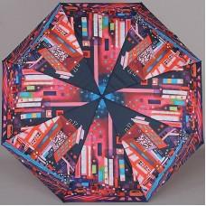 Зонтик компактный с двойными спицами ZEST 23715-28 Городская абстракция