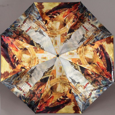 Зонтик в три сложения Zest женский 23744