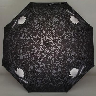 Облегченный зонтик ZEST 23745-0108 Кувшинка в узорах