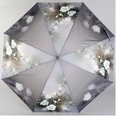 Плоский женский зонт Zest 23815-0093 Нежный цветочек