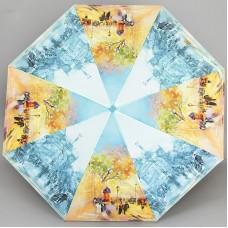 Женский плоский зонт полный автомат ZEST 23815-7990
