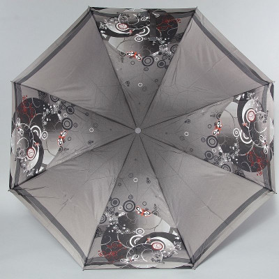 Зонт Zest женский 23846 Бабочки на сером автомат