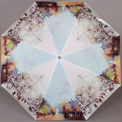 Женский компактный зонт Zest 23955 Париж, акварель