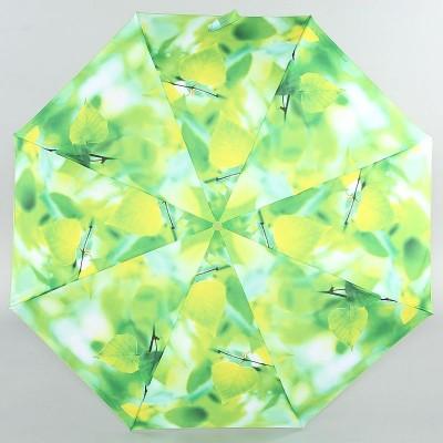 Зонт женский Zest 23955 Зеленые листья