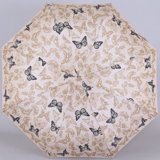 Зонтик ZEST 23956-233 бежевый с бабочками