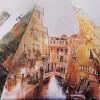 Женский зонт с большим куполом ZEST 23995-9113 Виды Европы