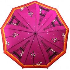 Зонт женский с длинным стержнем ZEST 239996-8105 Парижская модница