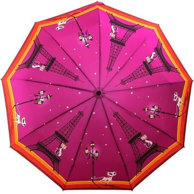 Зонт женский с длинным стержнем ZEST 239996-01 Парижская модница