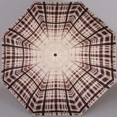 Компактный зонтик Zest 24757-227 Бежевый в клетку