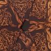 Карманный (16 см) плоский зонт Zest 25518-2731 Коричневый узор