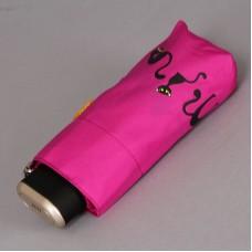 Плоский супер мини зонт с кошками ZEST 25569-1023