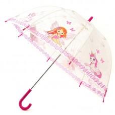 Детский прозрачный зонтик ZEST 51510-06 Девочка и пони