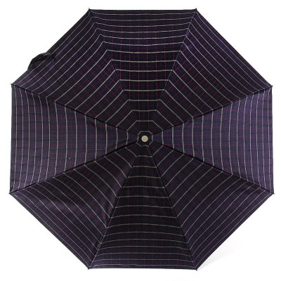 Классический женский зонт ZEST 53622 Темная клетка