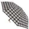 Черно-белый женский зонт полуавтомат в клетку ZEST 53622-20