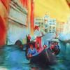 Зонт женский полуавтомат ZEST 53624-988 Венецианские гондольеры