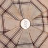 Бежевый мини зонт (23 см) в клетку ZEST 54912