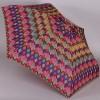 Компактный плоский женский зонт Zest 55526-229 Зигзаги
