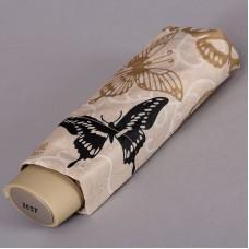 Компактный женский плоский зонтик Zest 55526-233 Бабочки