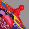 Зонтик детский трость с сердечками ZEST 81561
